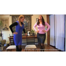Both Waiting For the Bathroom (MP4) - Amber Wells & Lily Anna
